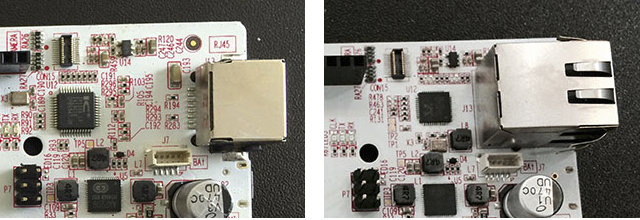 pcDuino3 (Left) vs pcDuino3B (Right)