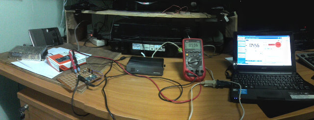 Testbed to Measure Current (Click to Enlarge)