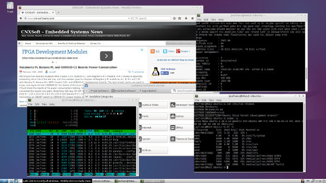 Lubuntu 15.04 on MeLE PCG03 (Click for Original Size)