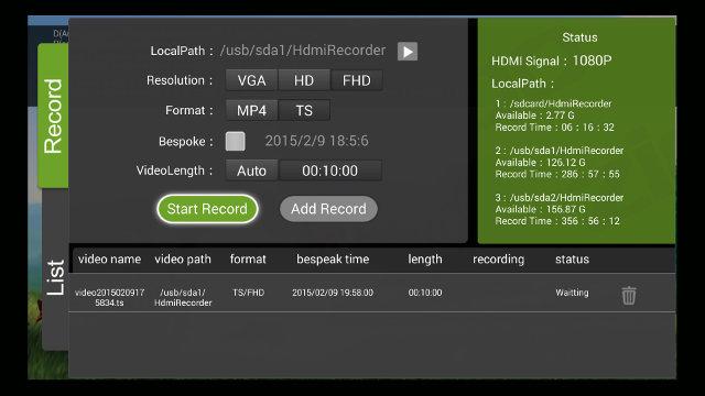 HDMI IN App Screenshot (Click for Original Size)