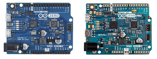 Arduino Zero (Arduino.cc) vs Arduino Zero Pro (Arduino.org) - Click to Enlarge