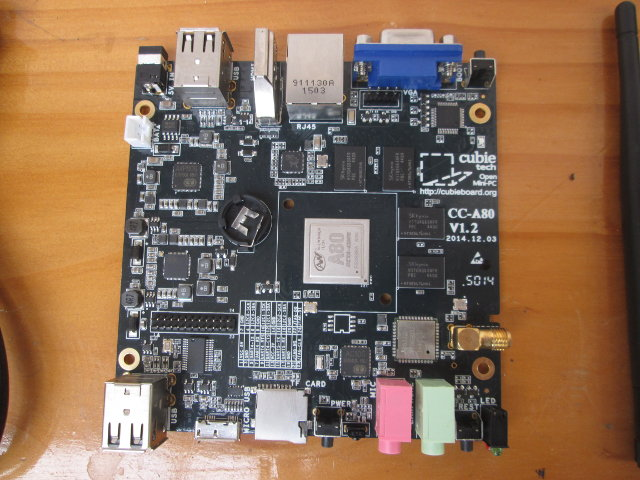 Top of CC-A80 Board (Click to Enlarge)
