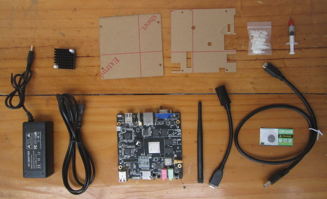 Cubieboard 4 and Accessories (Click to Enlarge)