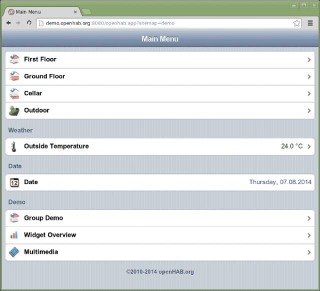 openHAB Web Interface