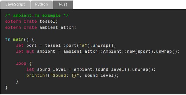 Rust Code Sample on Tessel 2