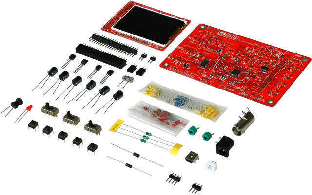 DSO138 DIY Kit (Click to Enlarge)