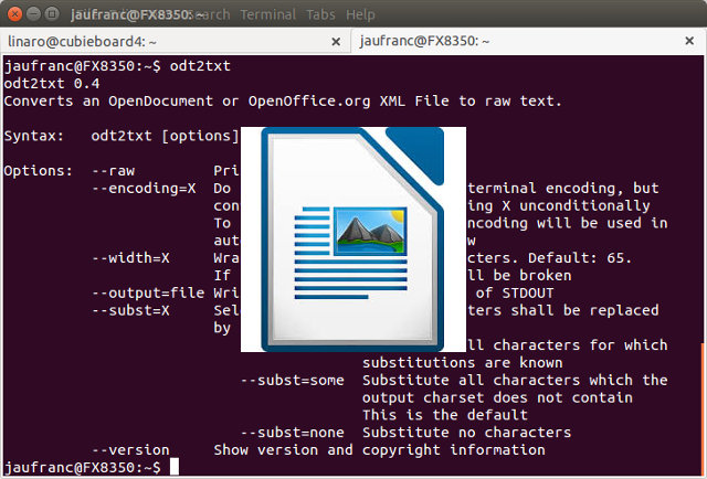 How to Read OpenOffice / LibreOffice Files from the Command Line