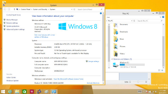Wintel W8 PC Info and Storage in Windows 8.1 (Click for Original Size)