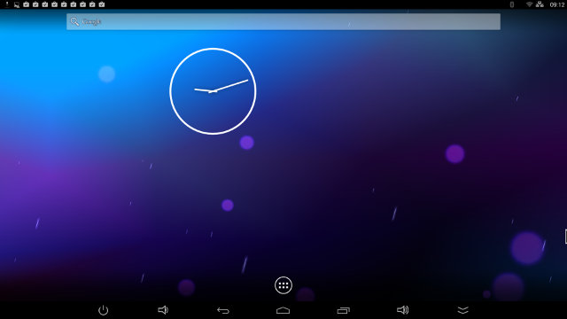 Android Home Screen (Click to Enlarge)