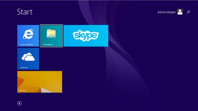 Windows 8.1 Metro Interface on Wintel W8 (Click for Original Size)