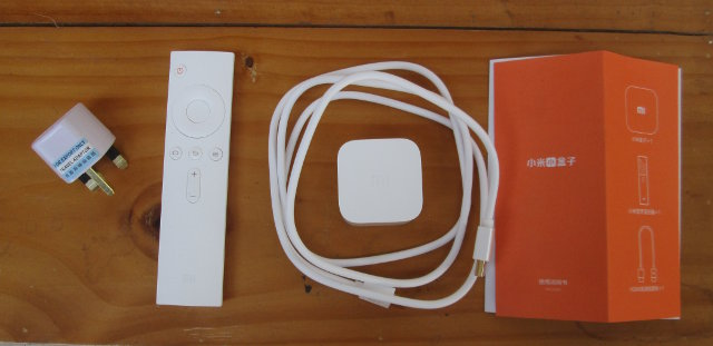 Mi Box Mini, Remote. HDMI Cable and User Manual (Click to Enlarge)