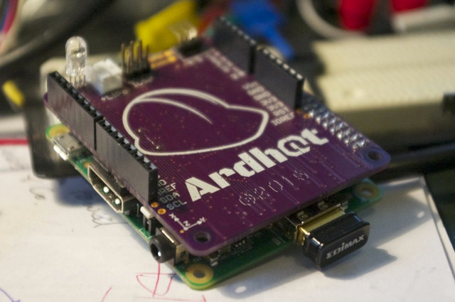 ARDHAT Connected to Raspberry Pi Model A+