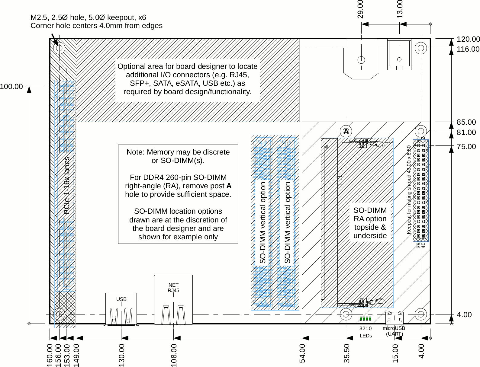 Board Drawings for Standard Version (Click to Enlarge)
