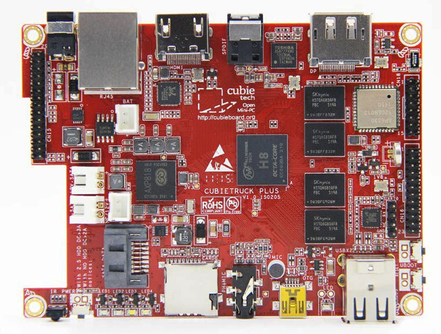 Top of Cubieboard 5 (Click to Enlarge)