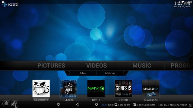 Kodi 14.2 on i68 Comes with Some Pre-installed Add-ons.