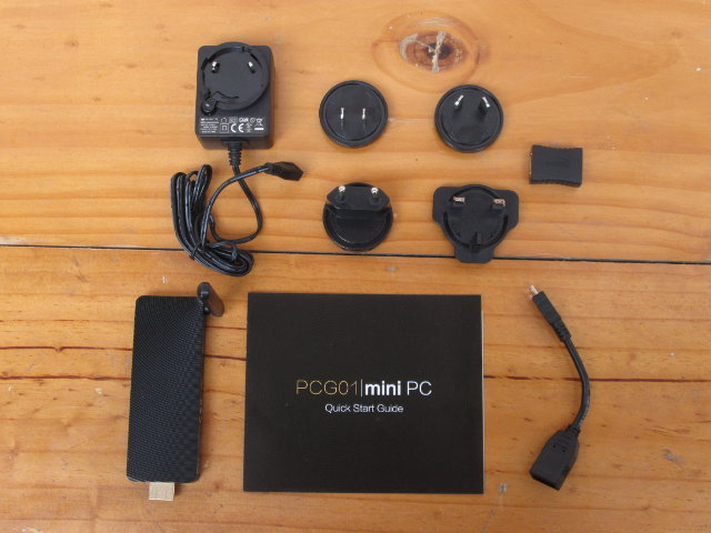 PCG01 mini PC and Accessories (Click to enlarge)