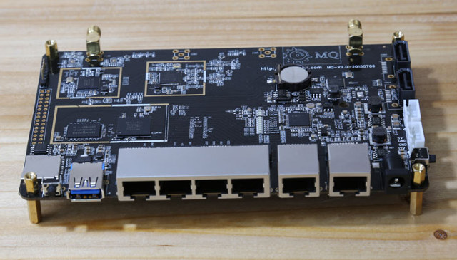 WiTi OpenWRT Router Board Features 6 Ethernet Ports, Dual