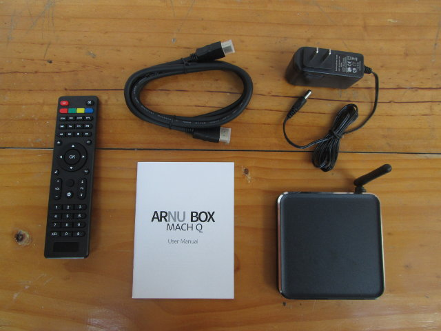 Mach Q TV Box and Accessories (Click to Enlarge)