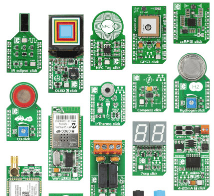 Some MikroElectronika Click Boards