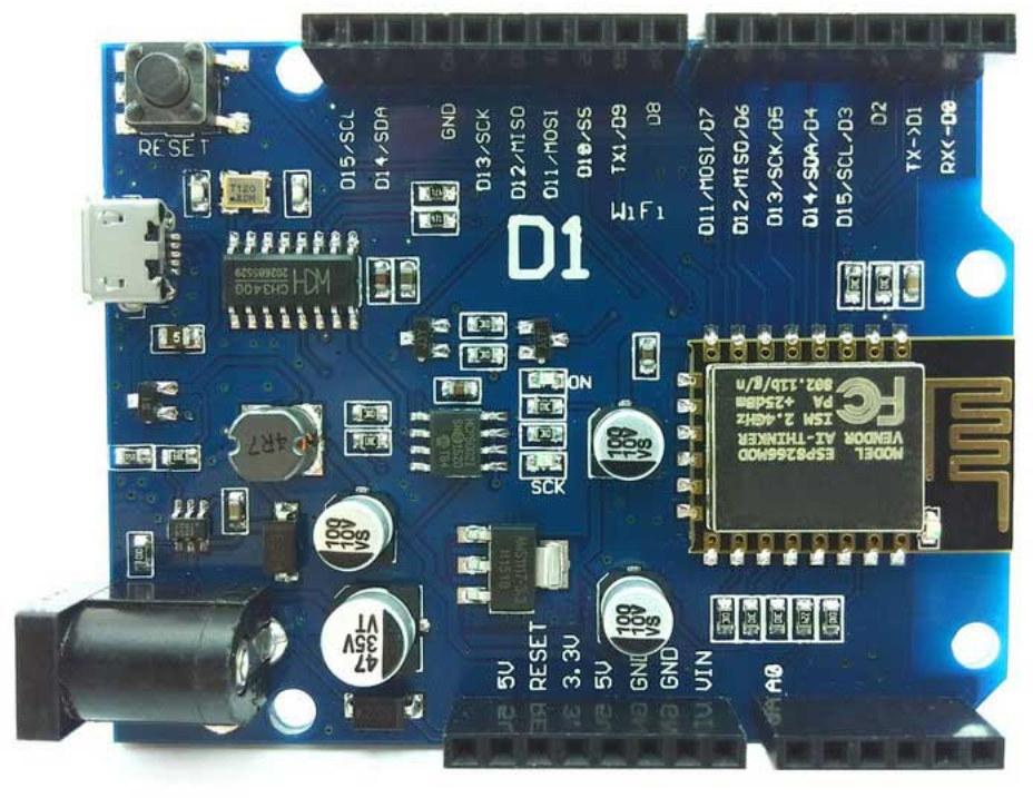 Esp d board features arduino uno headers