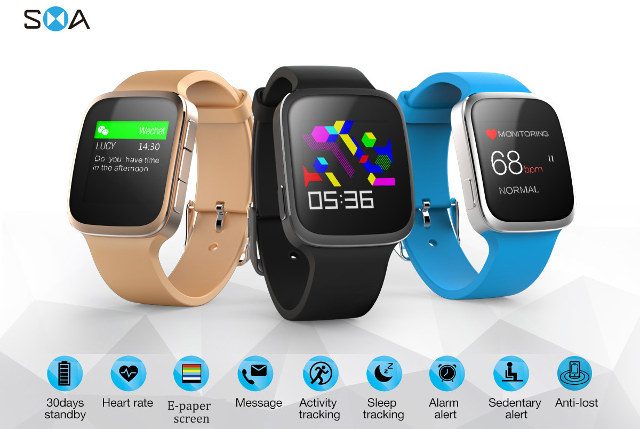 sma q bluetooth smartwatch features a color e paper. Black Bedroom Furniture Sets. Home Design Ideas