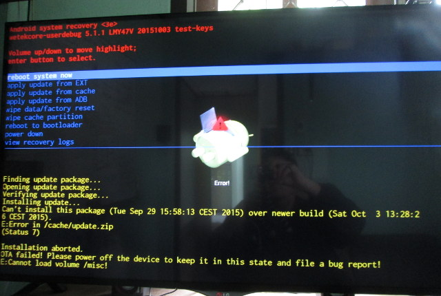 WeTek_Core_OTA_Firmware_Update_Error