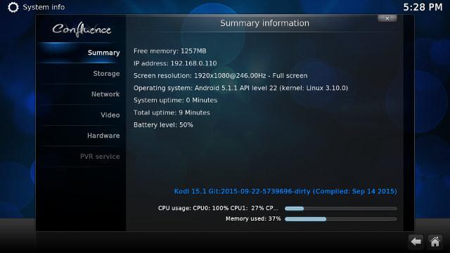 Kodi 15.1 in Zidoo X6 Pro (Click for Original Size)