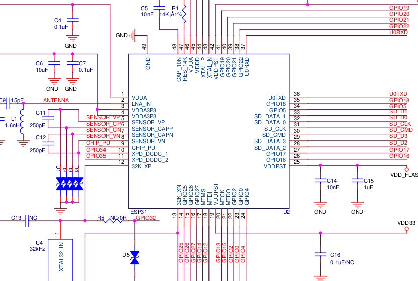 ESP32 Module Schematics and Board Files