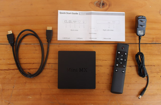 Beelink MINI MX and Accessories (Click to Enlarge)