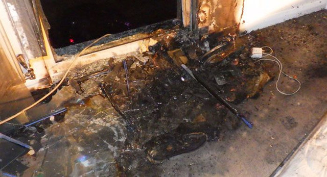 Non-compliant Hoverboard After Explosion during Charging.