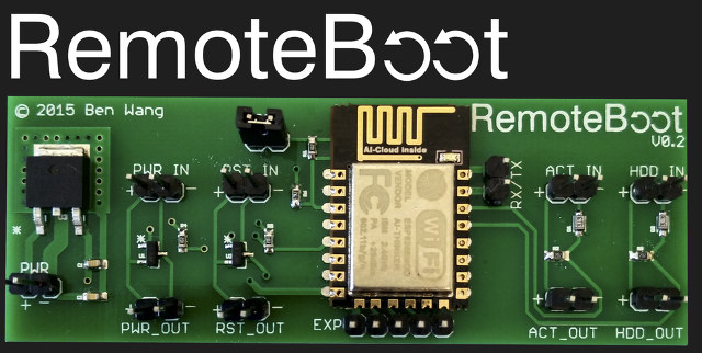RemoteBoot is an ESP8266 based Board to Power on or Reboot