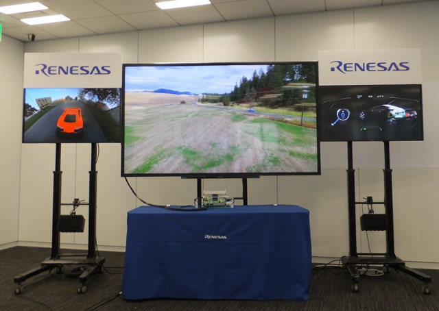 Renesas R-Car H3 Demo with 4K display and two secondary displays