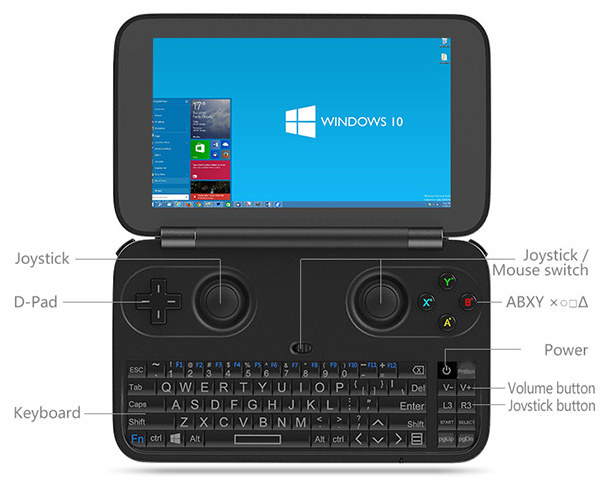 gpd win windows 10 portable gaming console launched on indiegogo for 299. Black Bedroom Furniture Sets. Home Design Ideas