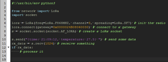 Setting up a LoRa Connection in Python