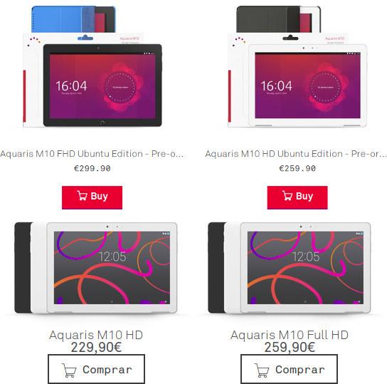 Aquaris M10 Price - Ubuntu vs Android