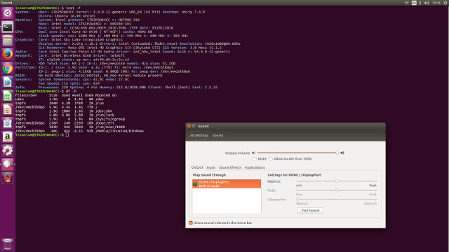 Ubuntu 16.04 on - Click to Enlarge