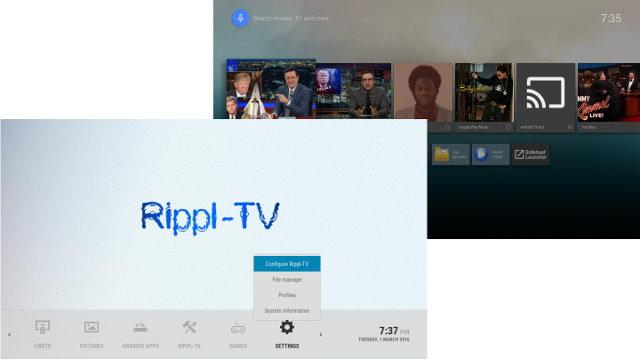 Rippl-TV V2 Android 5 1 TV Box Features an Android TV-like Launcher