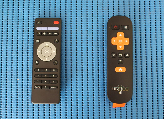 New (left) and Old (right) Remote Controls
