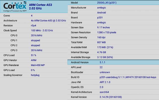 Zidoo_X5_CPU-Z