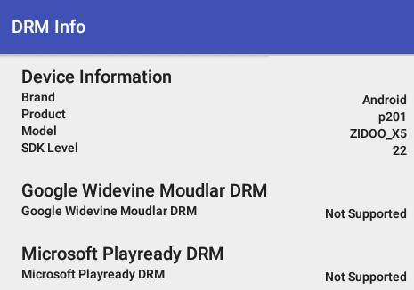 Zidoo_X5_DRM_info