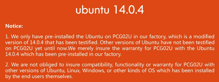 PCG02U_Linux_OS_Warning