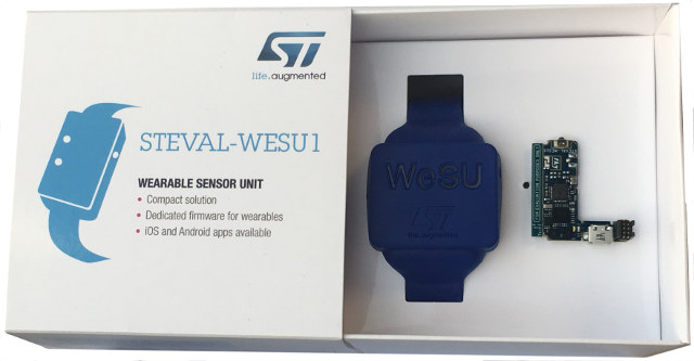 $49 STEVAL-WESU1 Wearable Sensor Unit Reference Design is Based on STMicro STM32 MCU