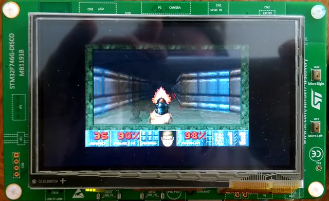 Doom on STM32F7 Board