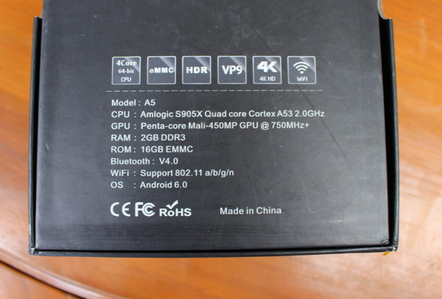 NEXBOX_A5_specifications