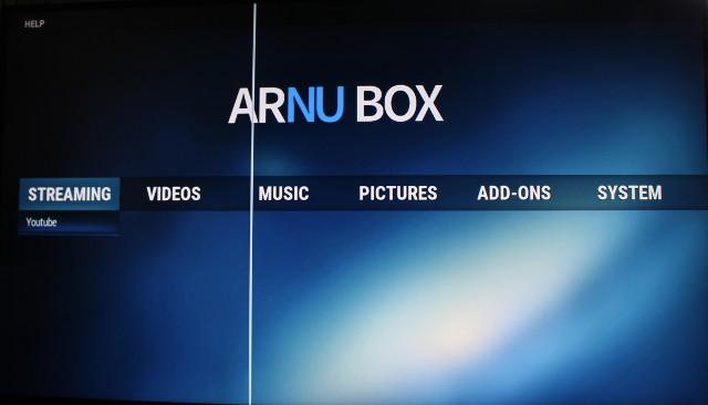 ARNU_Box_Pure_Linux_64-bit_Home_Screen