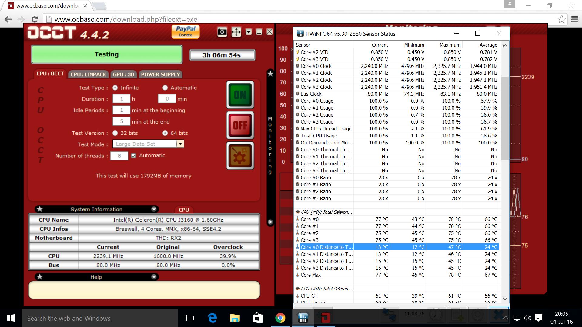 Stress Testing Windows mini PCs with OCCT Overclock Checking