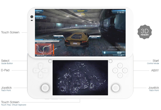 Pgs Portable Game Console Runs Windows 10 Amp Android 6 0 On