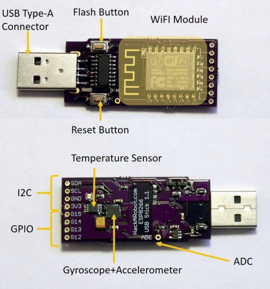 Withumb is an esp wifi usb adapter with motion and