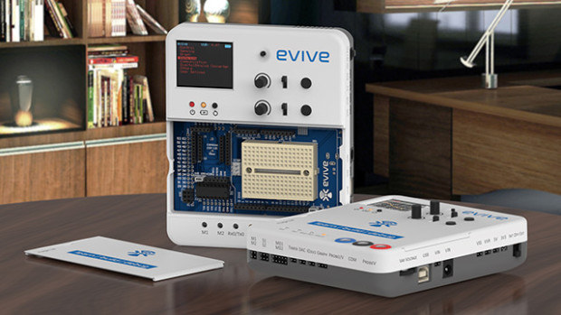 Evive is an arduino compatible platform with enclosure