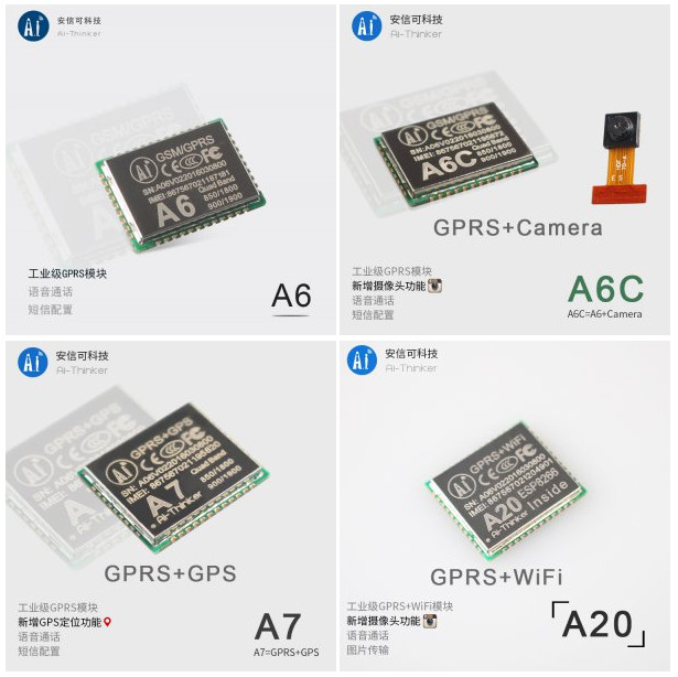 A I  Thinker A20 Plus ESP8266 WiFi Board Includes GPRS Support and a
